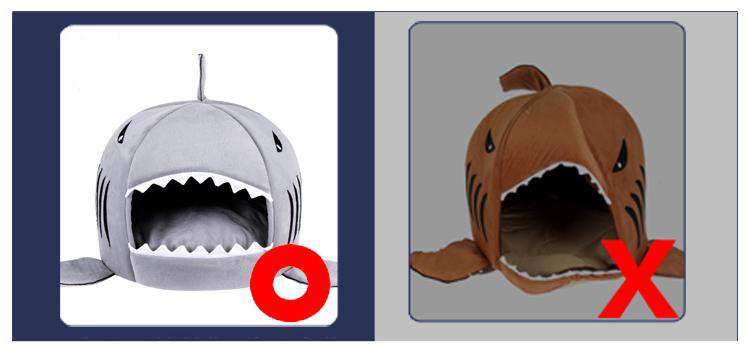 Shark house for cat and dog
