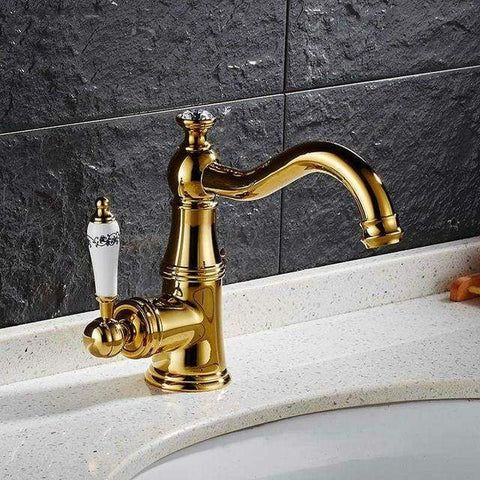 Basin Faucet With Ceramic Handle - Tap Mixer Hot Cold Water E-BestMall