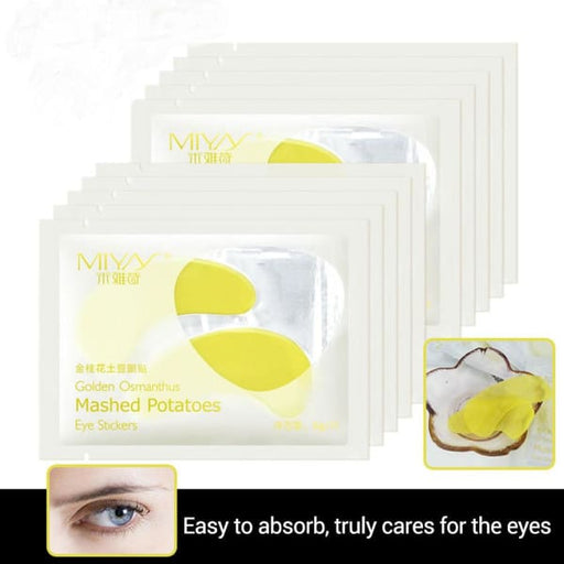 10 Pair Potato Dark Circle Eye Mask - Masks