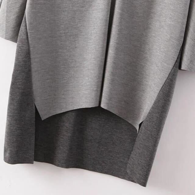 2018 Pullovers for Womens gray casual three quarter - Pullovers
