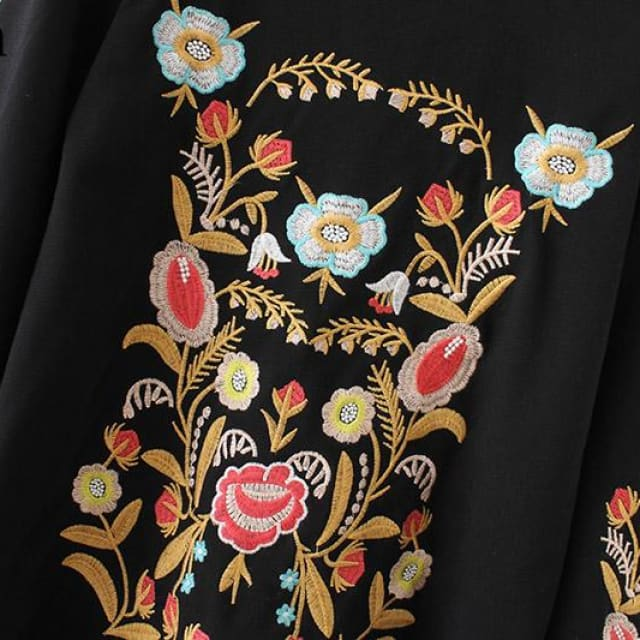 2018 sweatshirts For womens - Embroidery floral pattern - Hoodies & sweatshirts