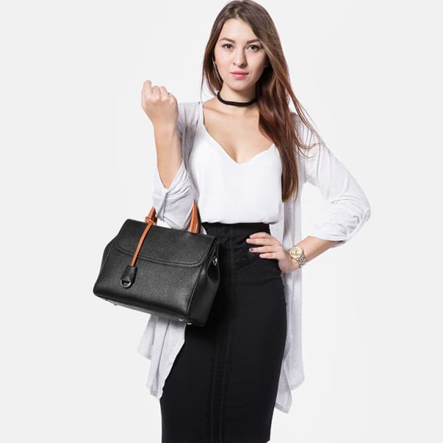 2018 Womens multifunctional handbag shoulder crossbody bags with striped - Shoulder & Crossbody Bags