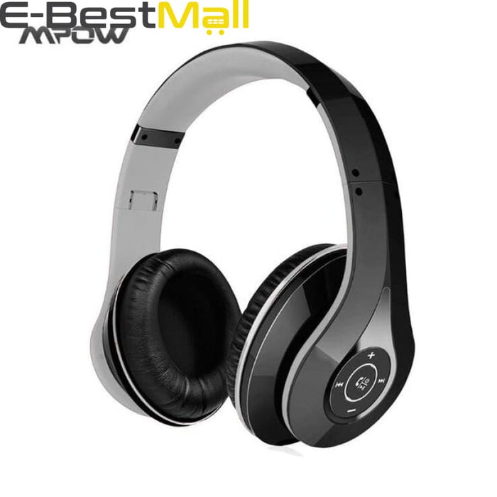 2019 Mpow Bluetooth stereo headphones wireless Bluetooth 4.0 On-Ear noisy cancel HIFI Stereo headset headphones with microphone - Black and