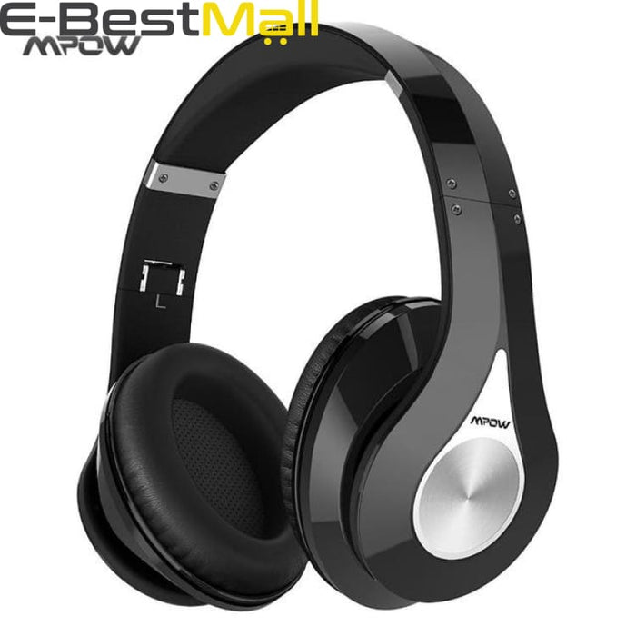 2019 Mpow Bluetooth stereo headphones wireless Bluetooth 4.0 On-Ear noisy cancel HIFI Stereo headset headphones with microphone - Black /