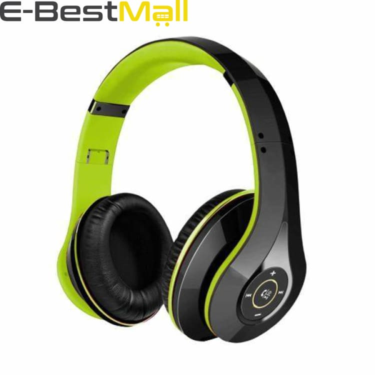 2019 Mpow Bluetooth stereo headphones wireless Bluetooth 4.0 On-Ear noisy cancel HIFI Stereo headset headphones with microphone - Green and