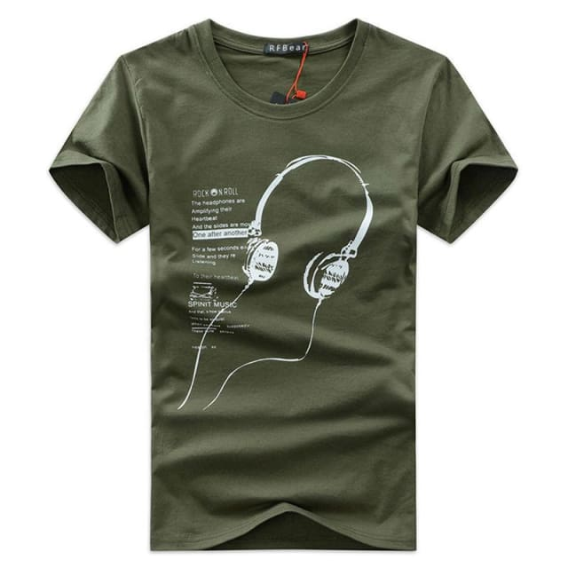 3 different style summer T-shirt - Print Headphone - T-Shirts