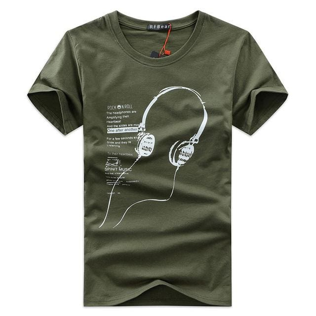 3 different style summer T-shirt - Print Headphone - chart11 / M - T-Shirts