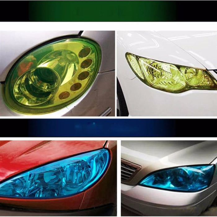 30*120cm Car Smoke Fog Light Headlight Taillight Tint Vinyl - Car Stickers