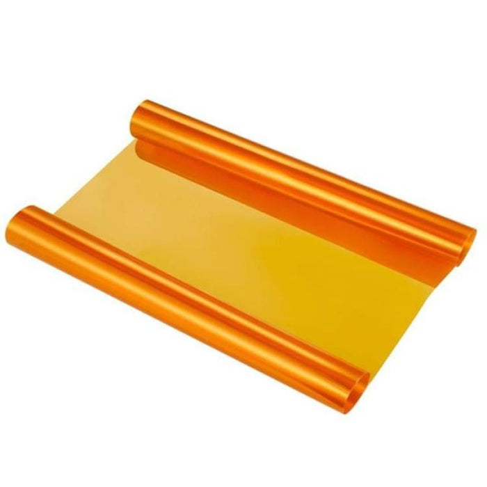 30*120cm Car Smoke Fog Light Headlight Taillight Tint Vinyl - Orange - Car Stickers