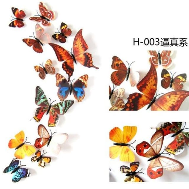 3D Butterfly Wall Sticker Home Decoration - true - Wall sticker