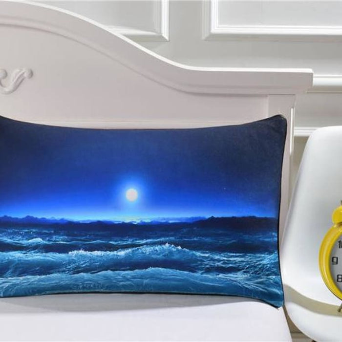 3D Pillow Case - Moon And Ocean - Ocean Pillowcase 001 / 50cmx75cm - Pillow Case