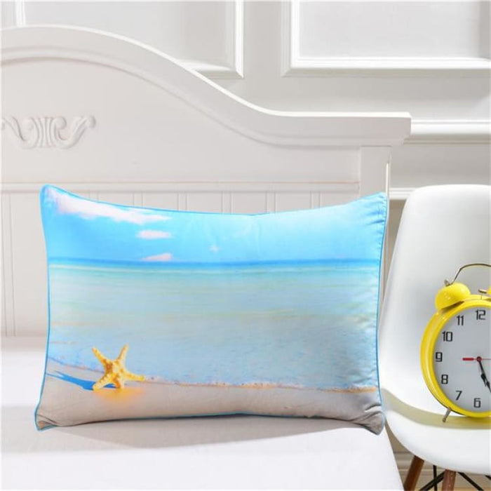 3D Pillow Case - Moon And Ocean - Ocean Pillowcase 002 / 50cmx75cm - Pillow Case