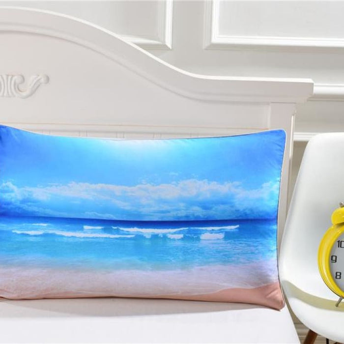 3D Pillow Case - Moon And Ocean - Ocean Pillowcase 003 / 50cmx75cm - Pillow Case