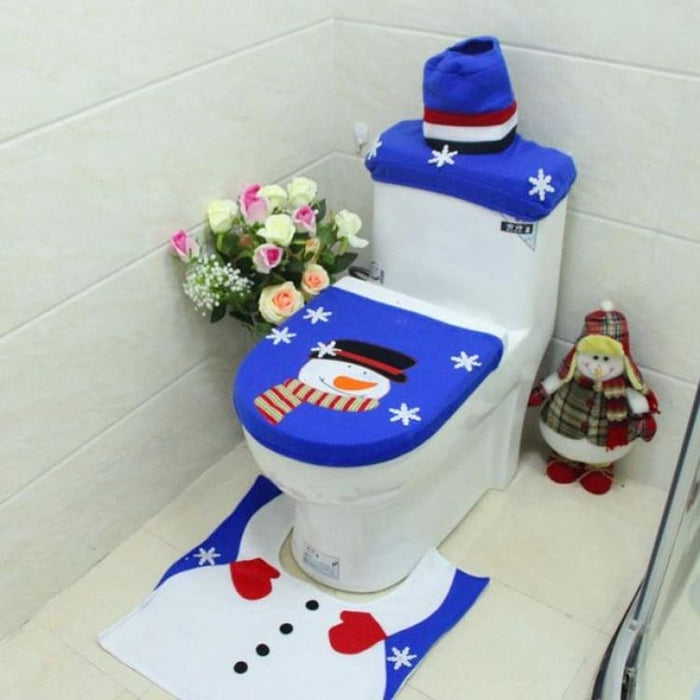 3Pcs/set Christmas Toilet Seat Cover - 10 - Toilet Seat Cover