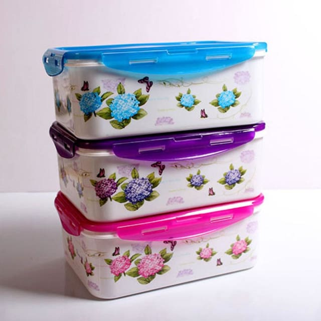 4pcs/Set Plastic Food Containers - Storage Boxes & Bins