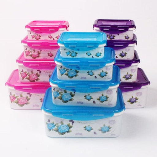 4pcs/Set Plastic Food Containers - Blue - Storage Boxes & Bins