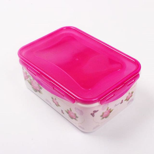 4pcs/Set Plastic Food Containers - Fushia - Storage Boxes & Bins