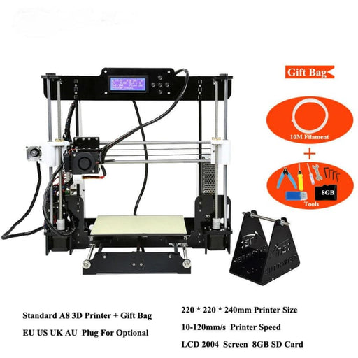 A8 A6 A2 High Precision Desktop 3D Printer - 3D Printer