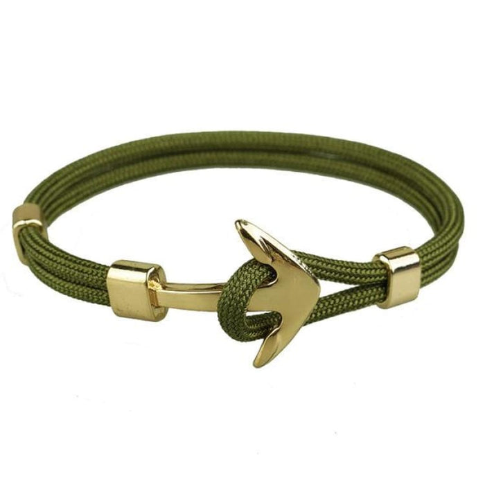 Anchor Bracelet Golden Hooks - Green - Bracelet