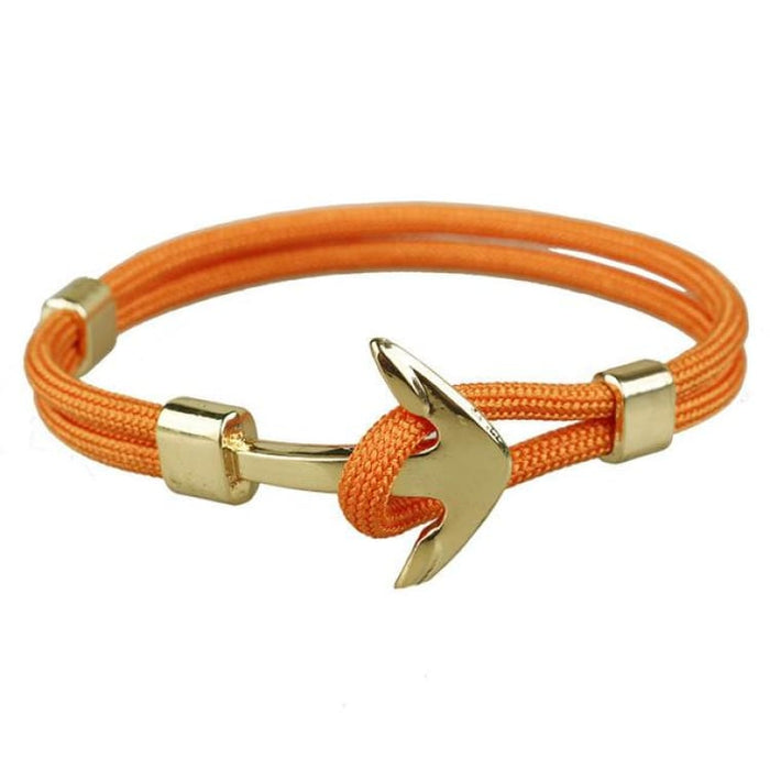 Anchor Bracelet Golden Hooks - Orange - Bracelet
