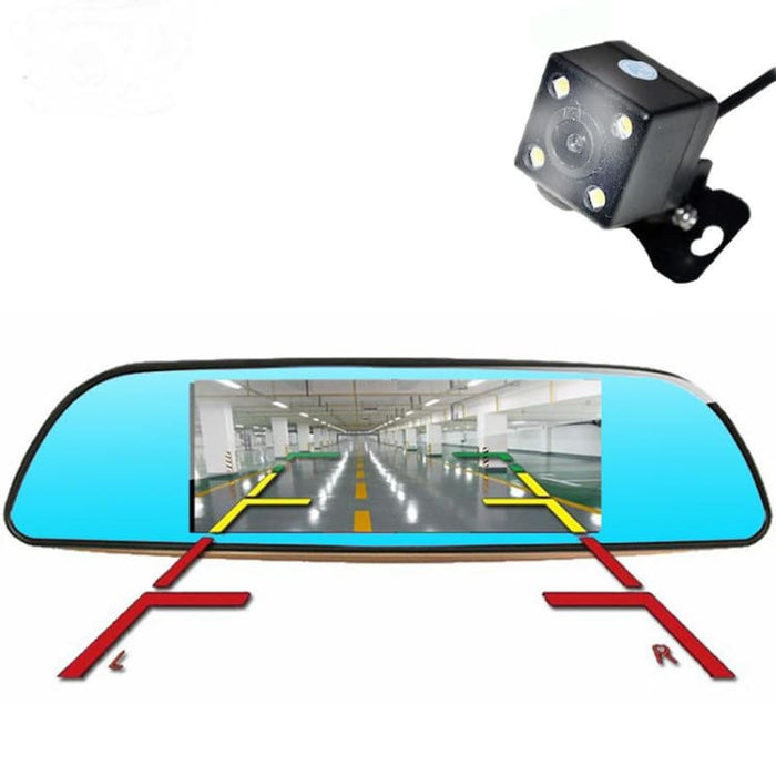 ANSTAR 3G Dual Lens Rearview Car DVR Camera GPS Bluetooth Mirror Video Recorder 7 inch FHD 1080P Auto DVRs Android 5.0 Dash Cam - DVR/Dash