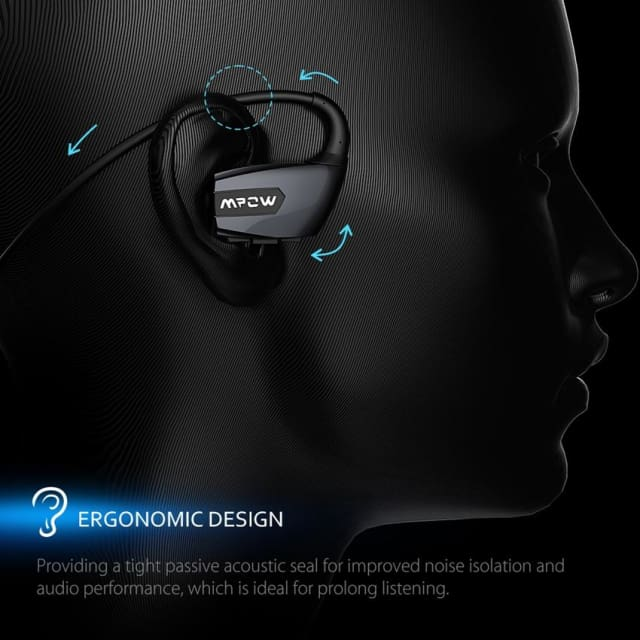 Antelope Wireless Bluetooth 4.1 Headphones headset Noise Reduction Stereo Sport Running Ear Hook Earphone with Mic