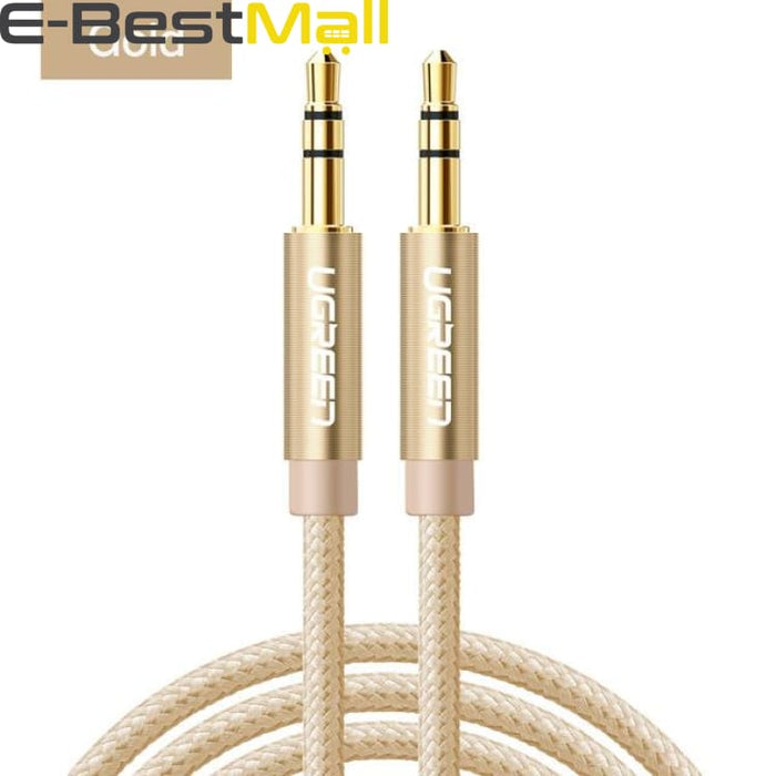 Audio Cable Gold Plated for iPhone Xiaomi redmi 4x - Car Headphone Speaker Auxiliary Cable - gold / 0.5m - Audio & Video Cable