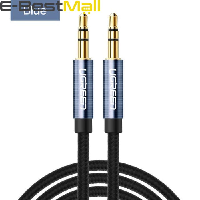 Audio Cable Gold Plated for iPhone Xiaomi redmi 4x - Car Headphone Speaker Auxiliary Cable - blue / 0.5m - Audio & Video Cable
