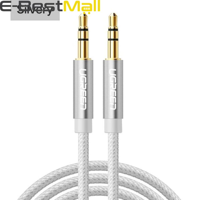 Audio Cable Gold Plated for iPhone Xiaomi redmi 4x - Car Headphone Speaker Auxiliary Cable - silvery / 0.5m - Audio & Video Cable