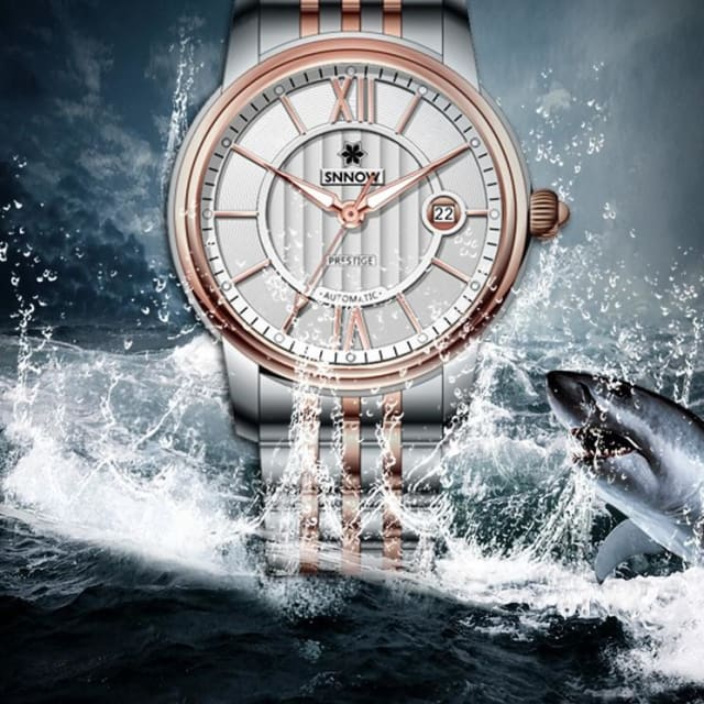Automatic mechanical watches men business dress classical Charm mens watch relogio masculino waterproof 100m - Quartz