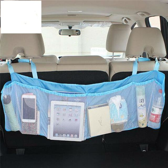 Bag Multi-Pocket Large Capacity For Car - Blue - Stowing Tidying