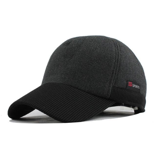 Baseball Cap With Ears For Mens - Black - Baseball Cap