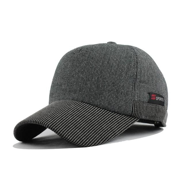 Baseball Cap With Ears For Mens - Gray - Baseball Cap
