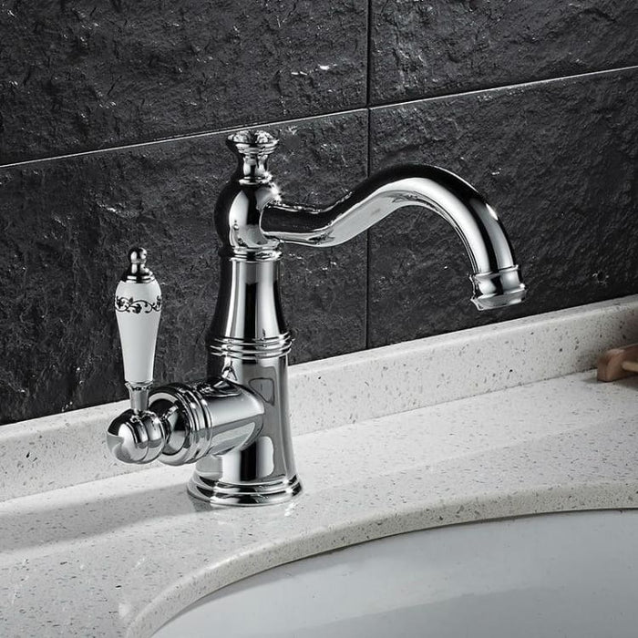 Basin Faucet With Ceramic Handle - Tap Mixer Hot Cold Water - Basin Faucets