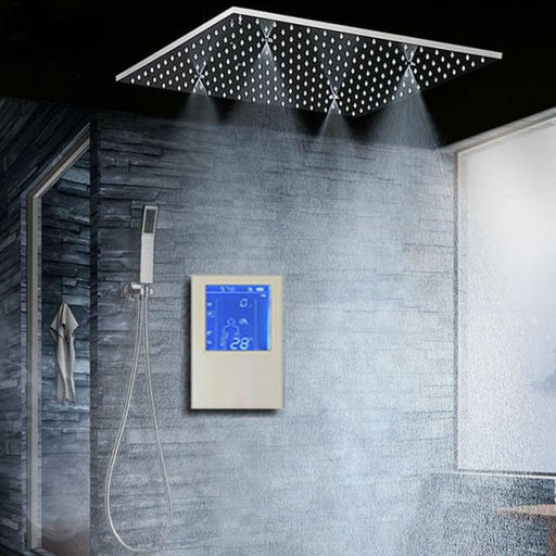 Bathroom Shower Head with 3 Ways Intelligent Digital Concealed Faucet 20 SPA Mist Rainfall Thermostatic Set Touch Panel Mixer - Shower