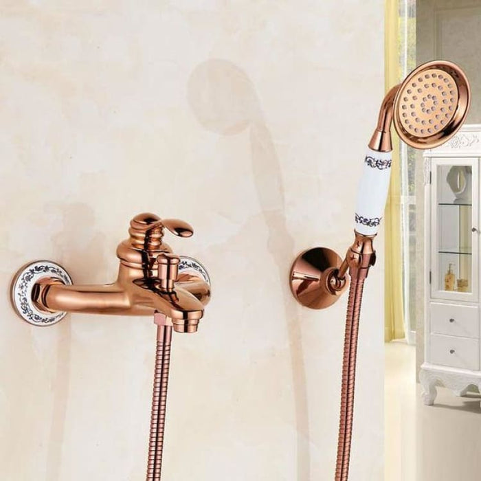 Bathtub Faucet With Hand Held Shower - Cold and Hot water - Shower Faucets