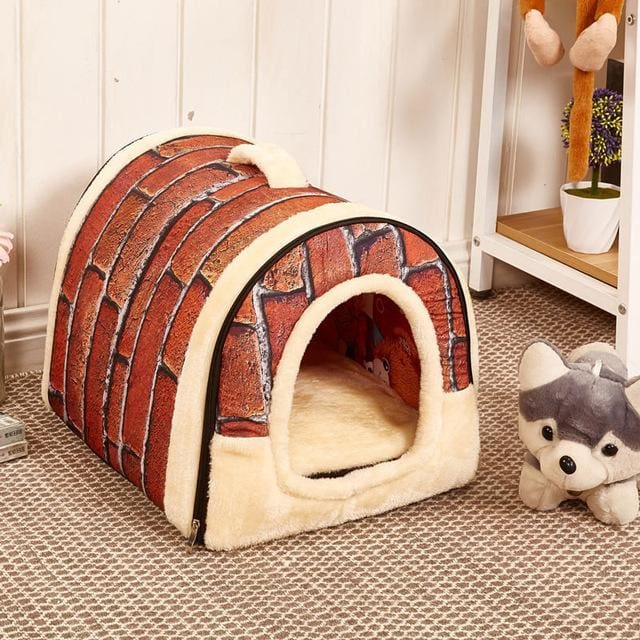 Beautiful House & Bed For Puppy Dogs Cat - 01 / S 35x30x28cm - House For Pet