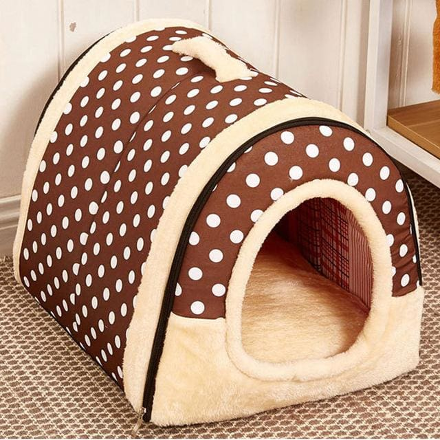 Beautiful House & Bed For Puppy Dogs Cat - 03 / S 35x30x28cm - House For Pet