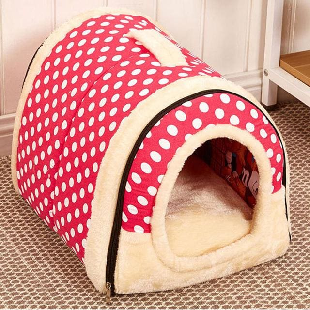 Beautiful House & Bed For Puppy Dogs Cat - 04 / S 35x30x28cm - House For Pet