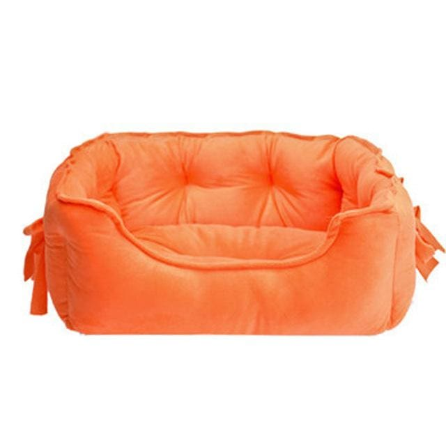 Bed sofa Cotton - Pet Dog Cat - Orange / S 48x38x18cm - Bed sofa Pet