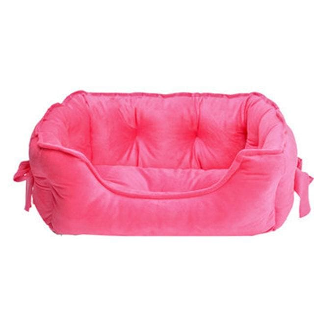 Bed sofa Cotton - Pet Dog Cat - RoseRed / S 48x38x18cm - Bed sofa Pet