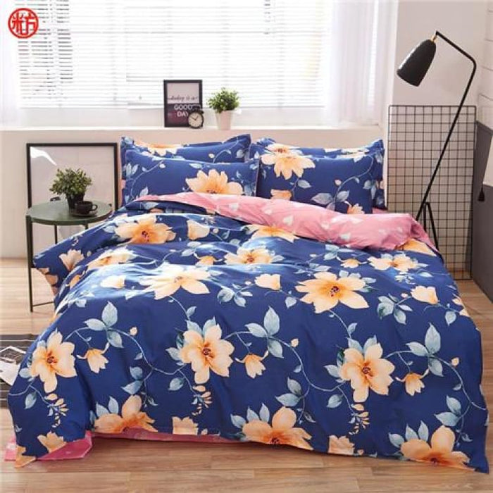 Bedding Set Korean Summer Style - bloom / Full - Bedding Sets