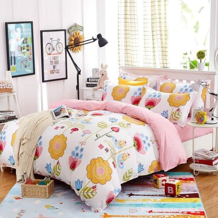 Bedding Set Korean Summer Style - dance / Full - Bedding Sets