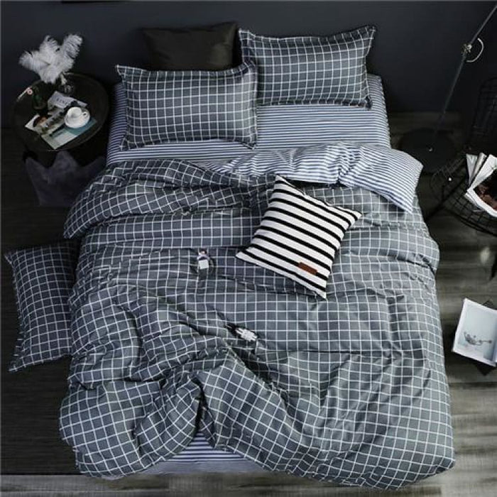 Bedding Set Korean Summer Style - happy melody / Full - Bedding Sets
