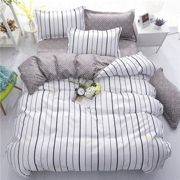 Bedding Set Korean Summer Style - holiday blue / Full - Bedding Sets
