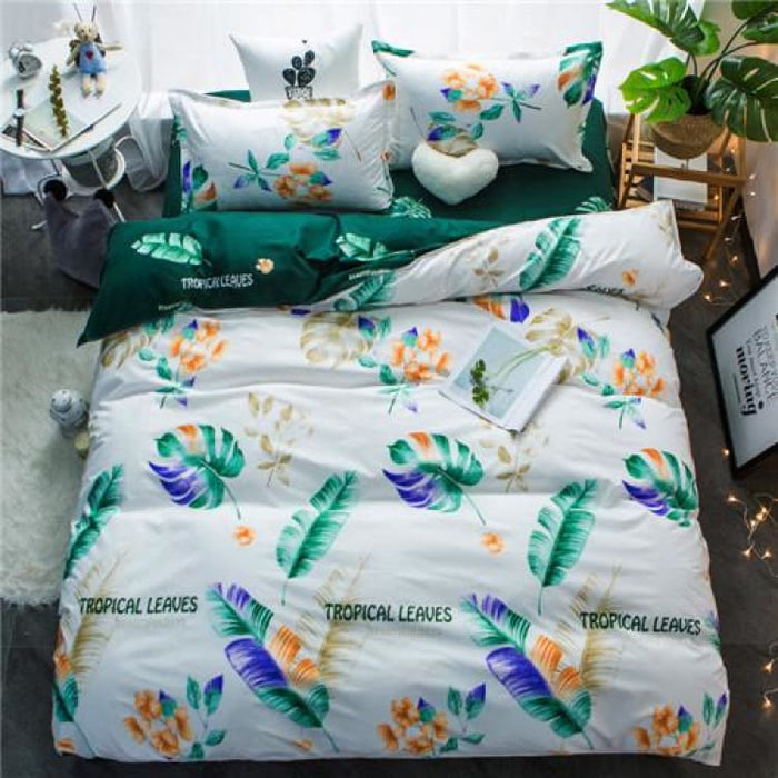 Bedding Set Korean Summer Style - lvyexianzong / Full - Bedding Sets