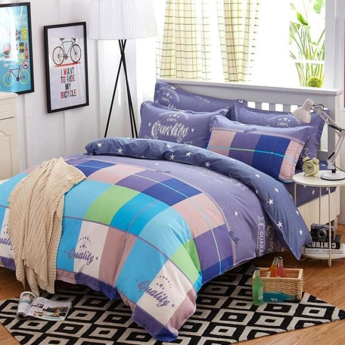 Bedding Set Korean Summer Style - summer moka / Full - Bedding Sets