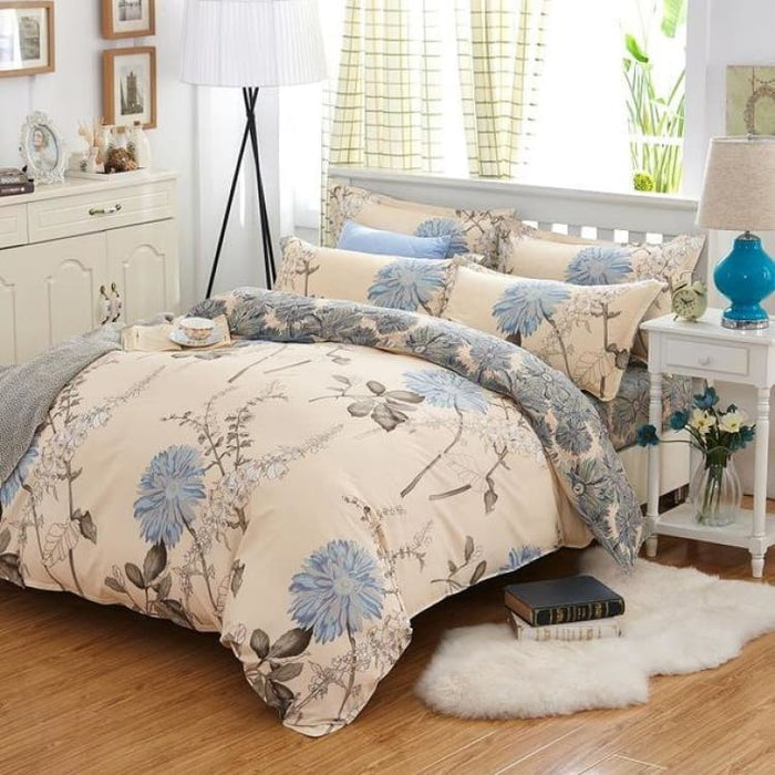 Bedding Set Korean Summer Style - yimoqingxiang / Full - Bedding Sets