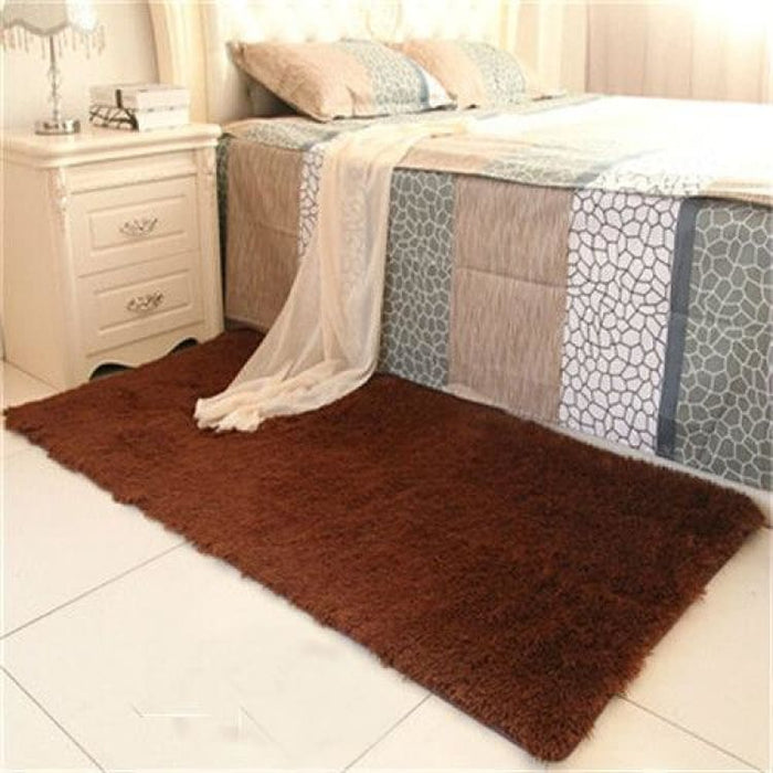 Bedroom carpet 80*160cm Middle size long hair (4-5cm) living room carpet 50*160 kitchen rug 120*170cm Customize modern room mat - coffee bed