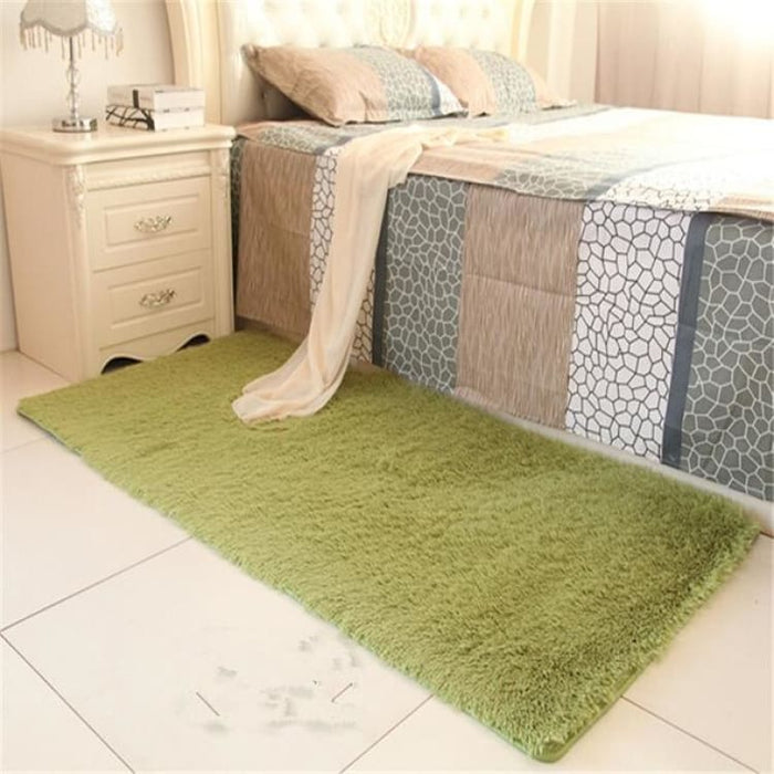 Bedroom carpet 80*160cm Middle size long hair (4-5cm) living room carpet 50*160 kitchen rug 120*170cm Customize modern room mat - grass